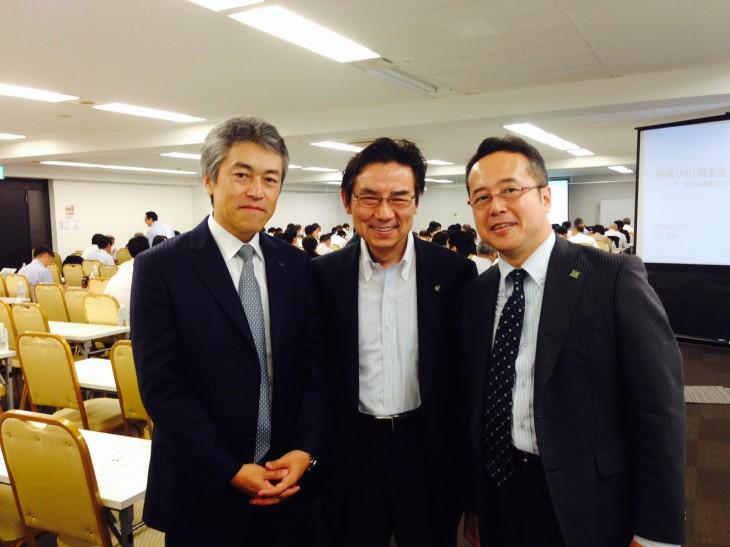 写真中央:染宮税理士 右:染宮先生に紹介して頂いたニッケイ・グローバル株式会社・代表:大田勉氏